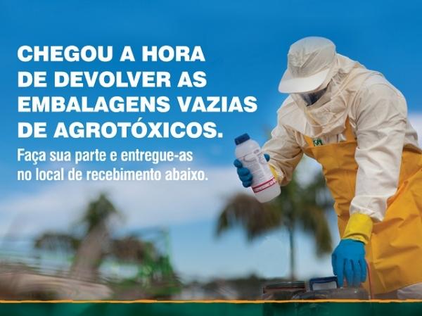 Ações itinerantes de recebimento de embalagens vazias em Barreiras e Riachão das Neves acontecem a partir de terça-feira (23)